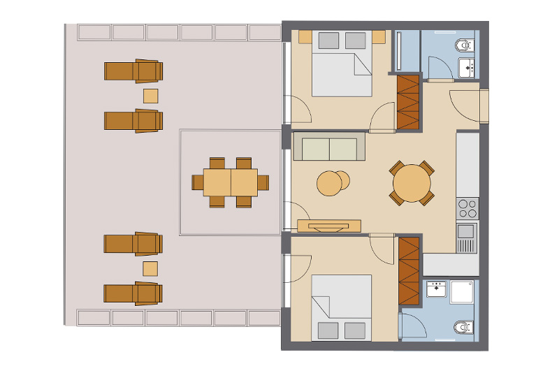 Two Bedroom Apartment #1 | #2