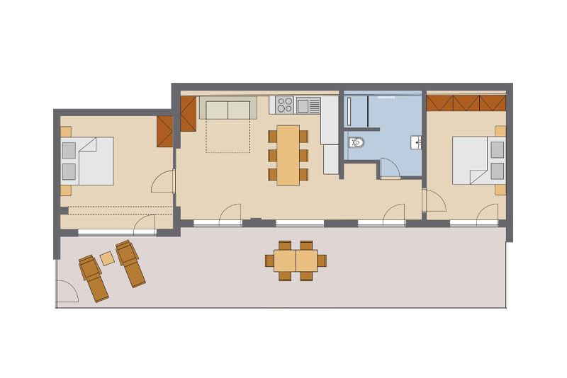 Two Bedroom Apartment #16